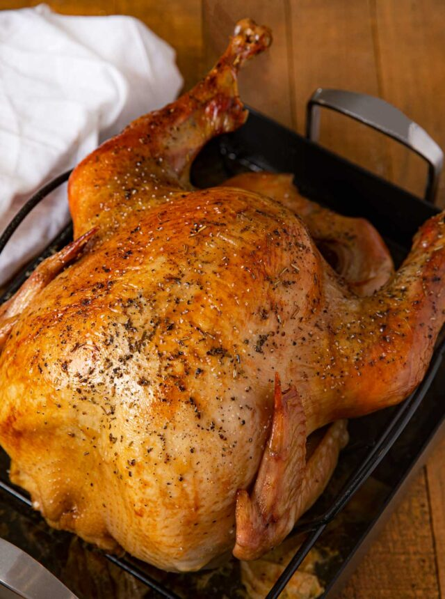 Cooking Turkey Overnight in large pan