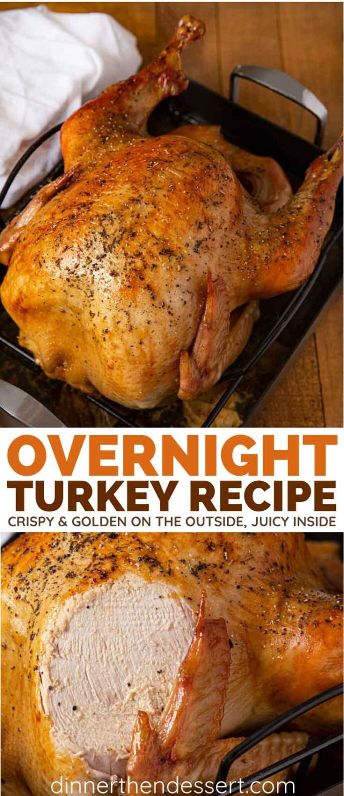 How to Cook Turkey Overnight collage