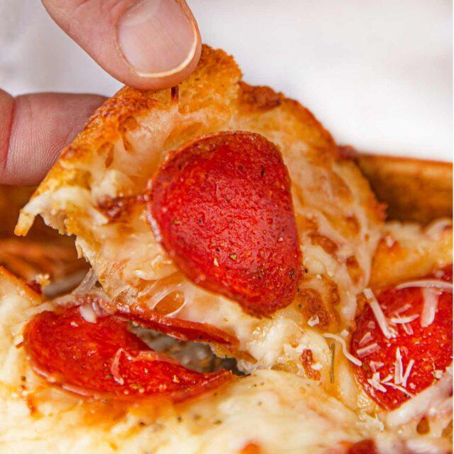 Cheesy Pepperoni Bread slice