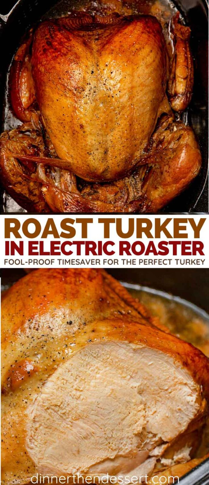 Electric Roaster Roasted Turkey collage