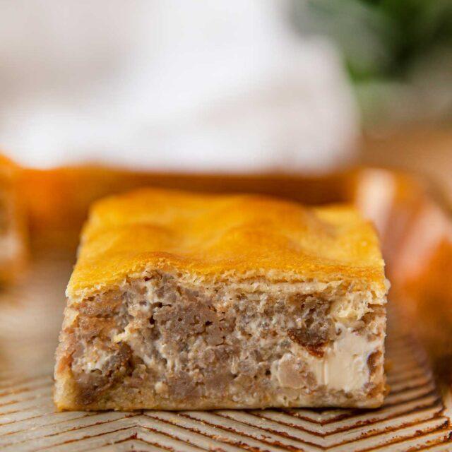 Sausage Cream Cheese Crescent Squares