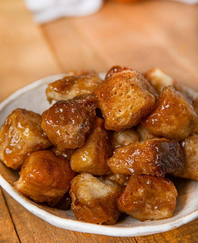 Slow Cooker Monkey Bread on plate