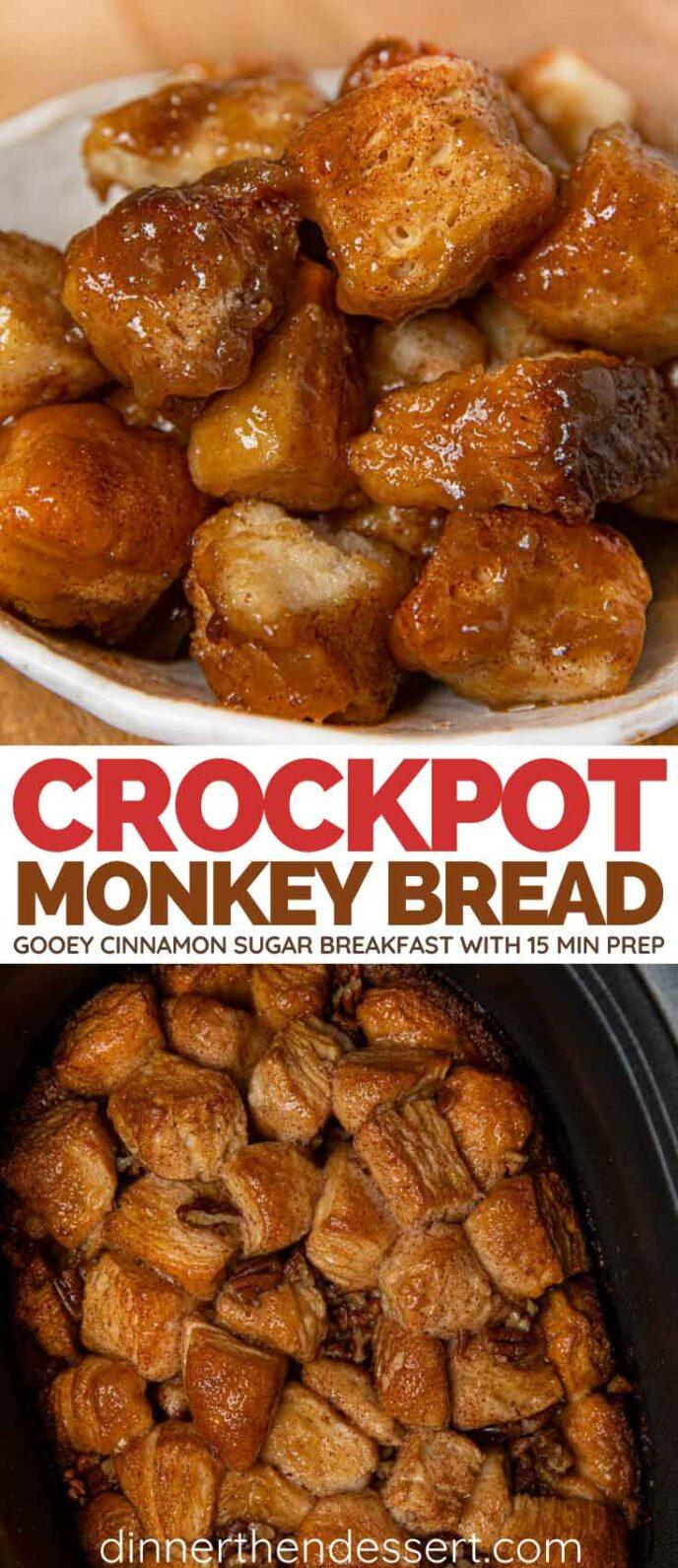 Crock Pot Monkey Bread collage