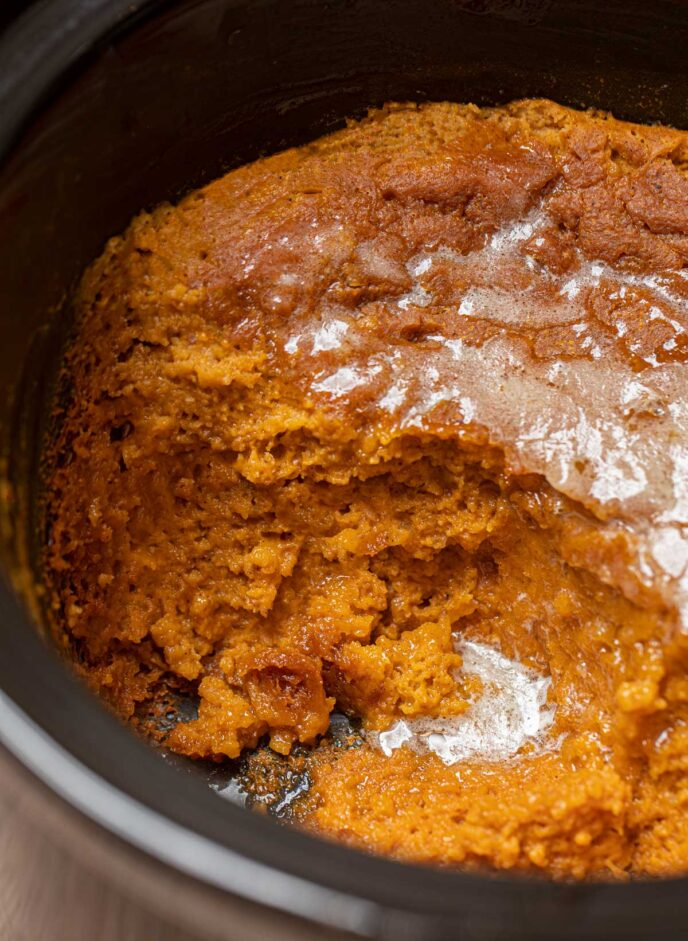 Slow Cooker Pumpkin Pie Pudding Recipe Crockpot Dinner Then Dessert