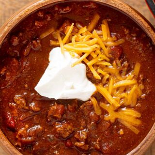 Texas Beef Chili in Bowl