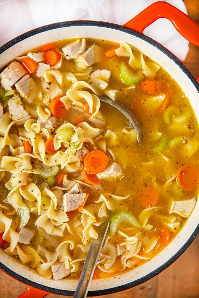 Turkey Noodle Leftover Soup