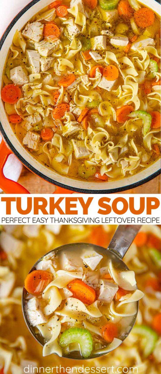 Turkey Noodle Soup collage