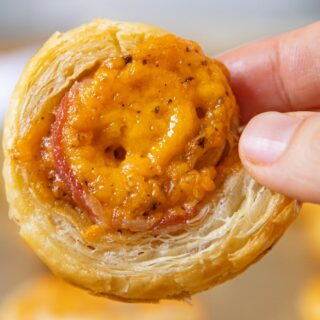 Bacon Cheddar Puff Pastry Pinwheel