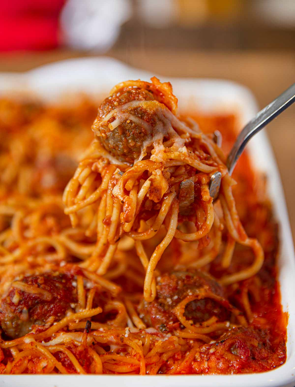 Baked Spaghetti And Meatballs Recipe Dinner Then Dessert