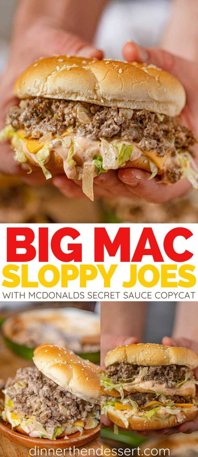 Big Mac Sloppy Joes collage