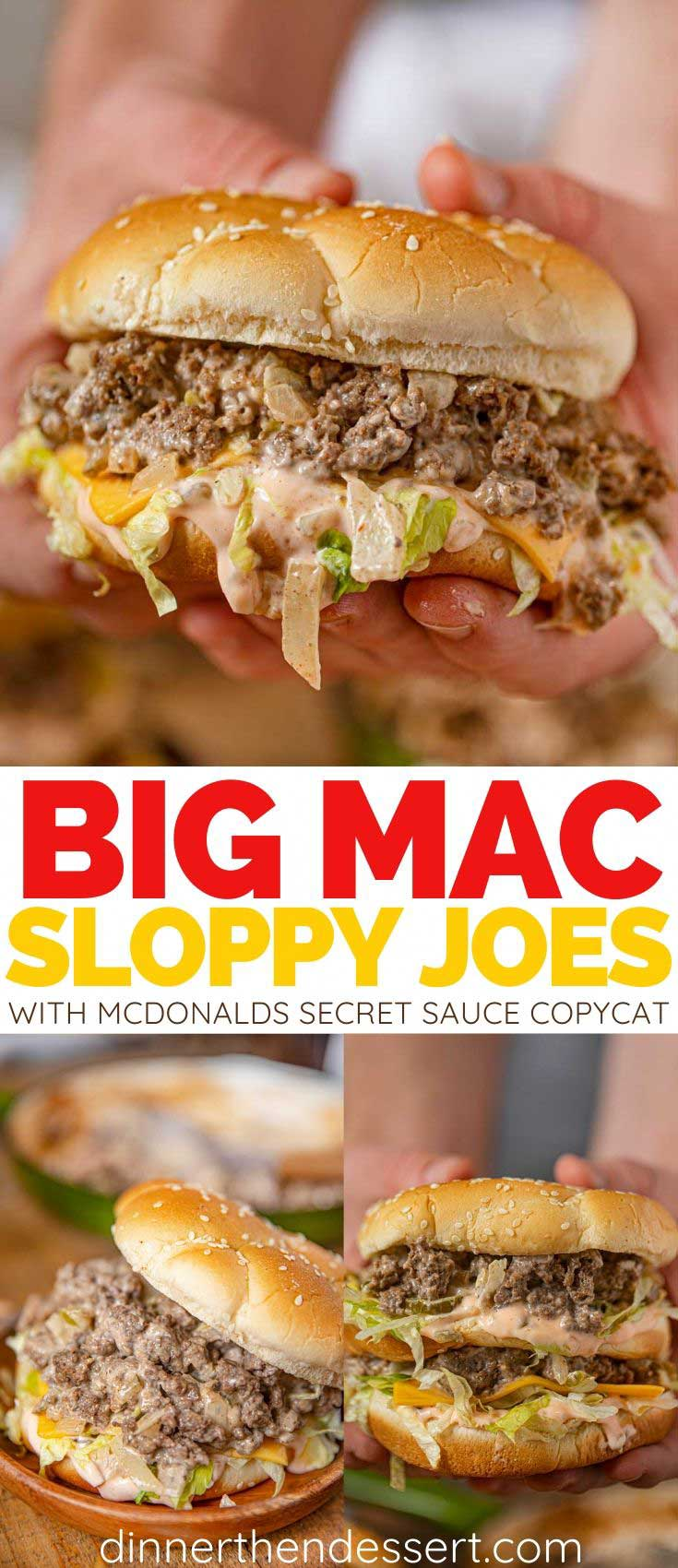 Big Mac Sloppy Joes (w/ Secret Sauce!) - Dinner, then Dessert