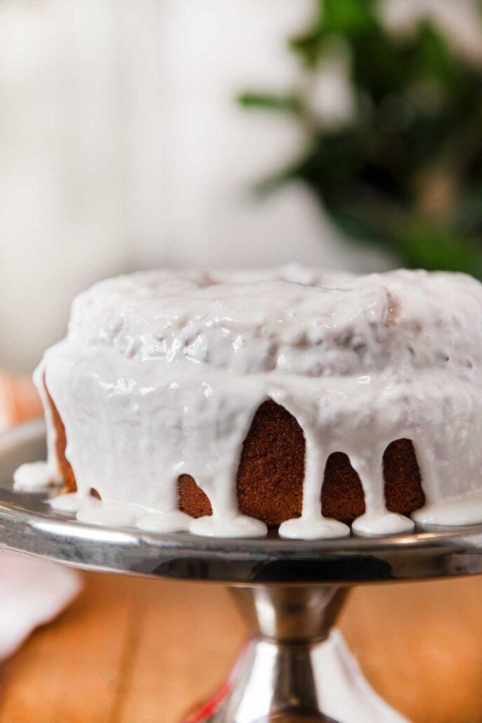 Brown Sugar Pound Cake with Vanilla Glaze