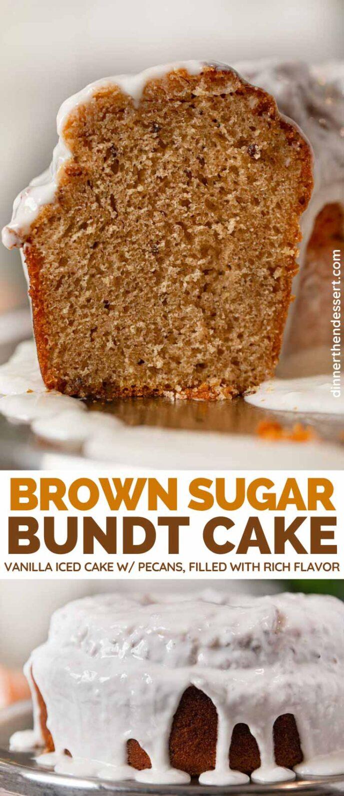 Brown Sugar Bundt Cake collage