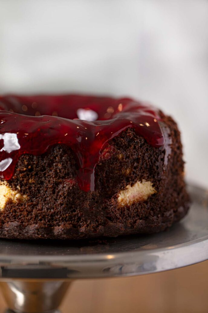 Cherry Chocolate Bundt Cake