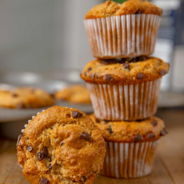 Top of Chocolate Chip Muffins