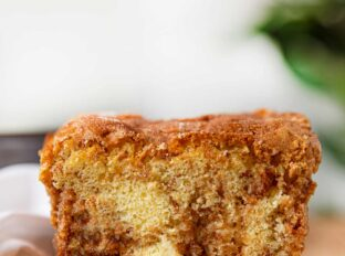 Slice of Cinnamon Streusel Bread