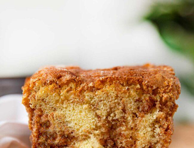 Slice of Cinnamon Streusel Bread