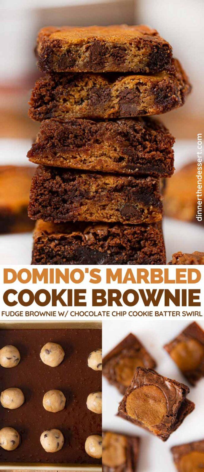 Domino's Cookie Brownie Copycat collage