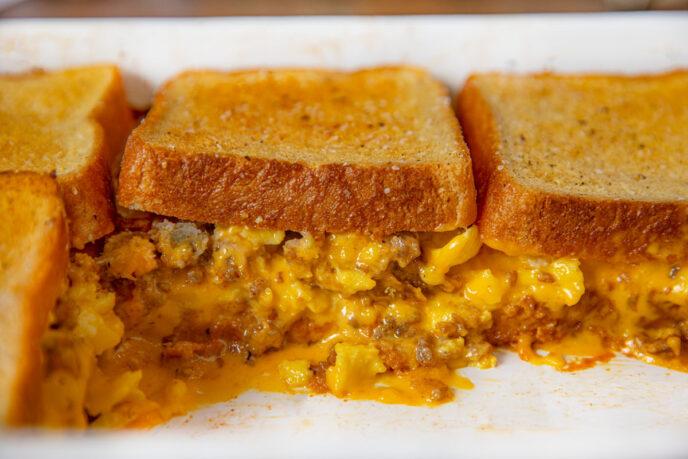 Grilled Cheese Breakfast Casserole