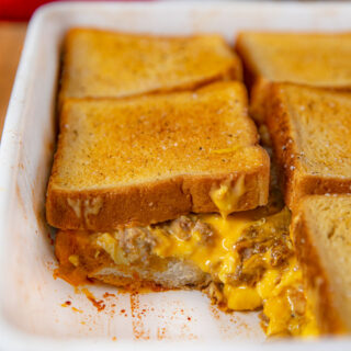 Breakfast Grilled Cheese Casserole