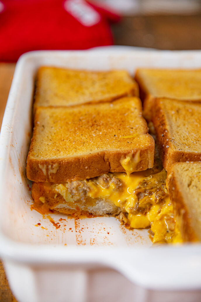 Breakfast Grilled Cheese Casserole