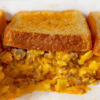 Grilled Cheese Sausage and Egg Casserole