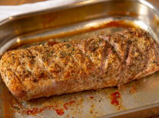 Whole Boneless Pork Loin Roast with Herb Butter Topping