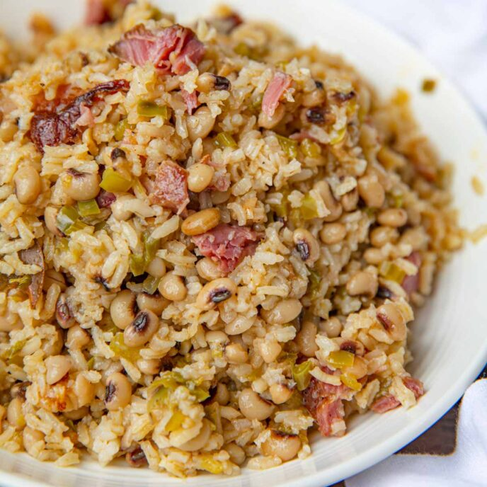 Hoppin John Beans and Rice with Ham