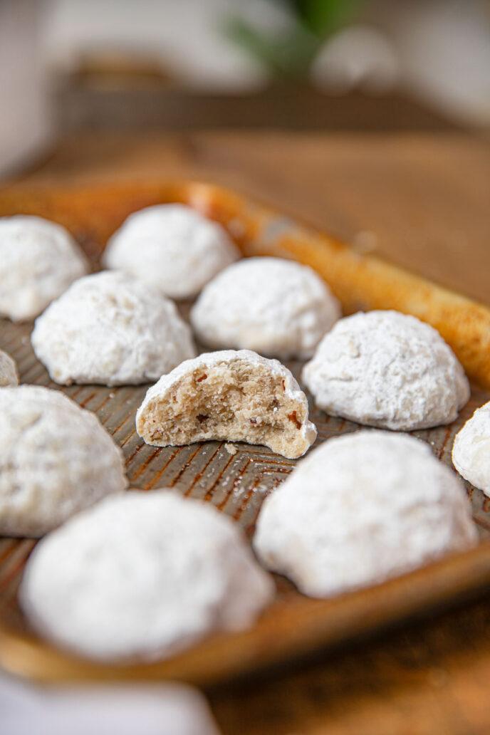 Italian Wedding Cookies on tray