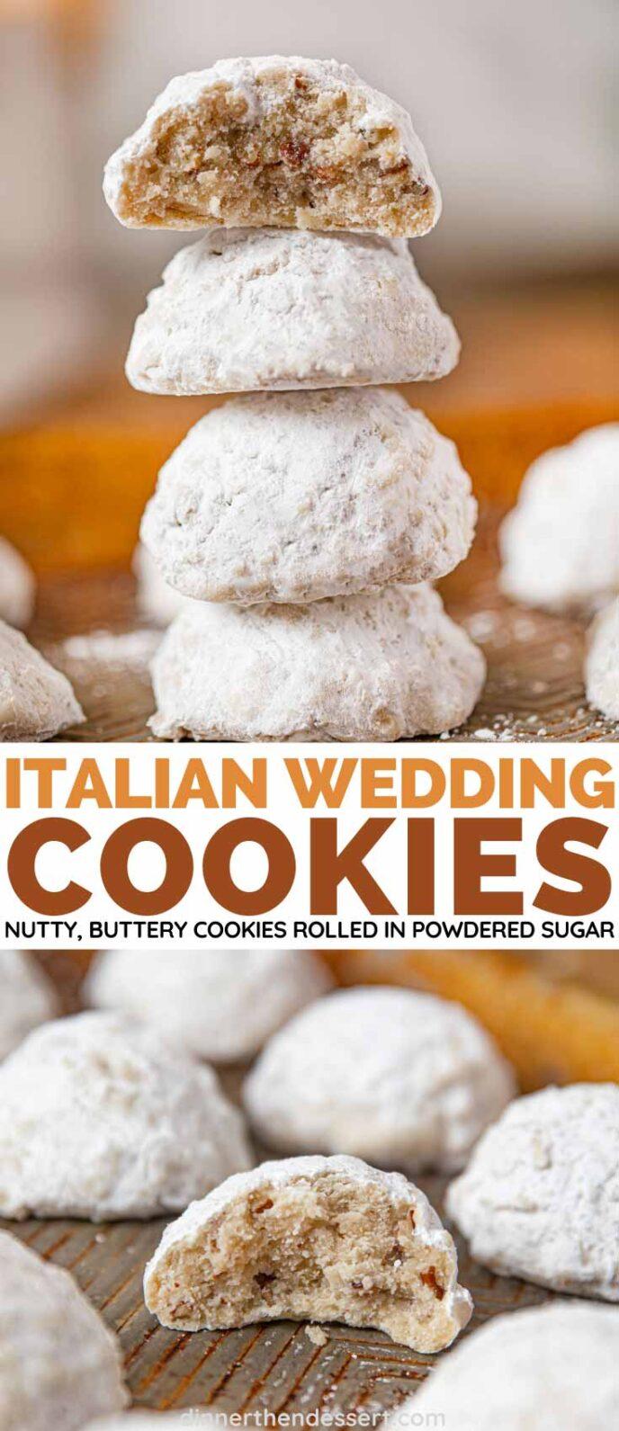 Italian Wedding Cookies collage