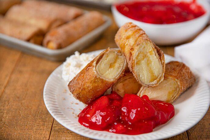 Cheesecake Chimichanga (Fried Cheesecake Eggroll)