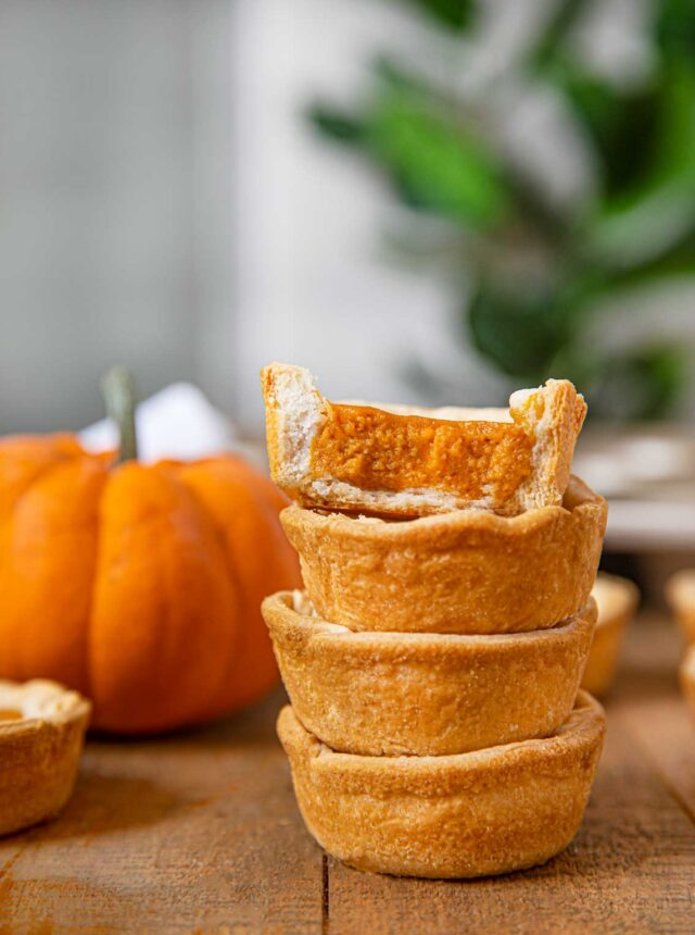 Mini Pumpkin Pies in a stack