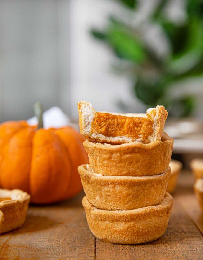 Mini Pumpkin Pies tall stack