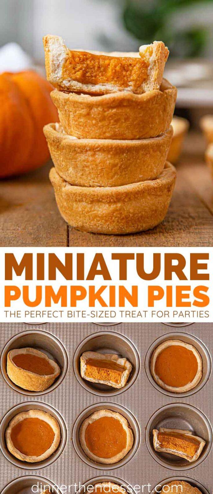 Mini Pumpkin Pies collage