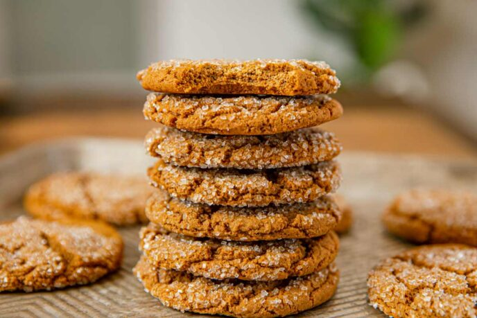 Stack of Molasses Cookies