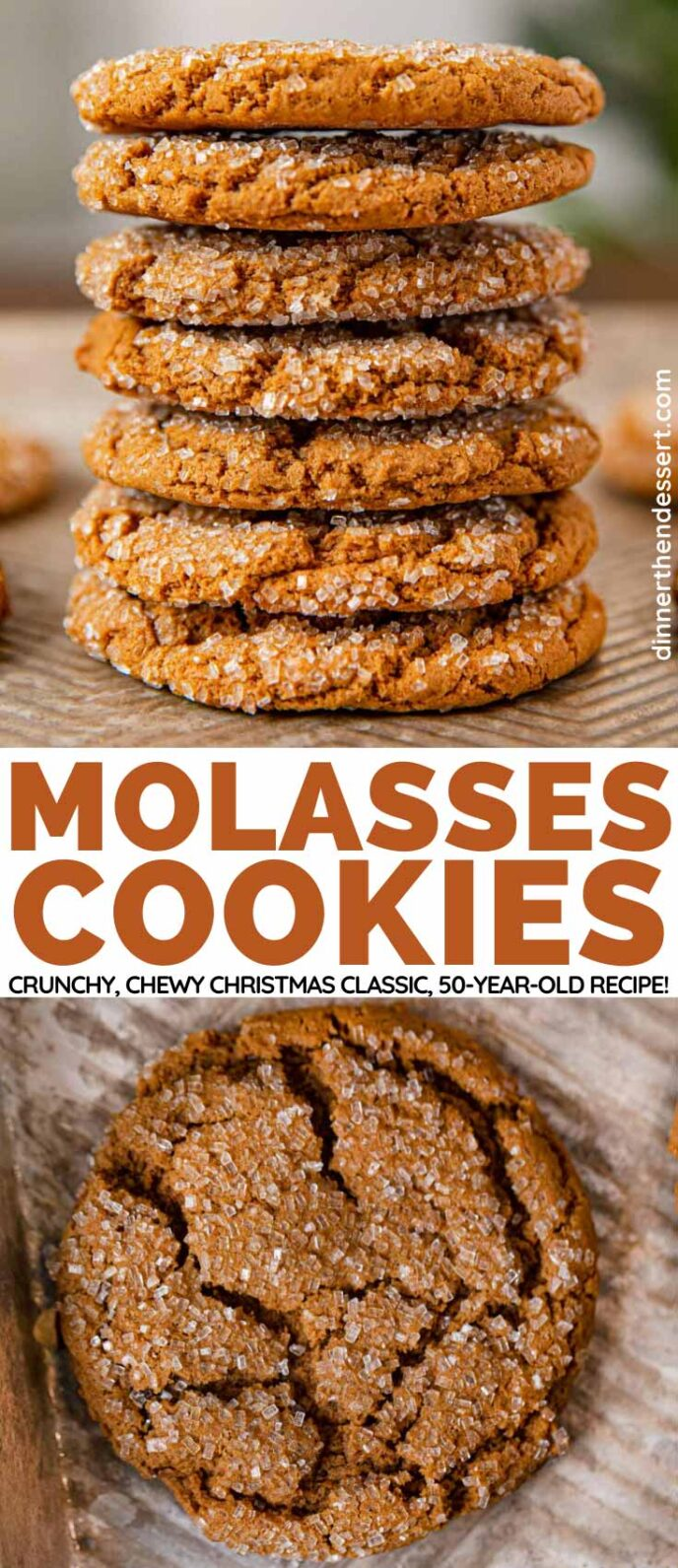 Molasses Cookies collage