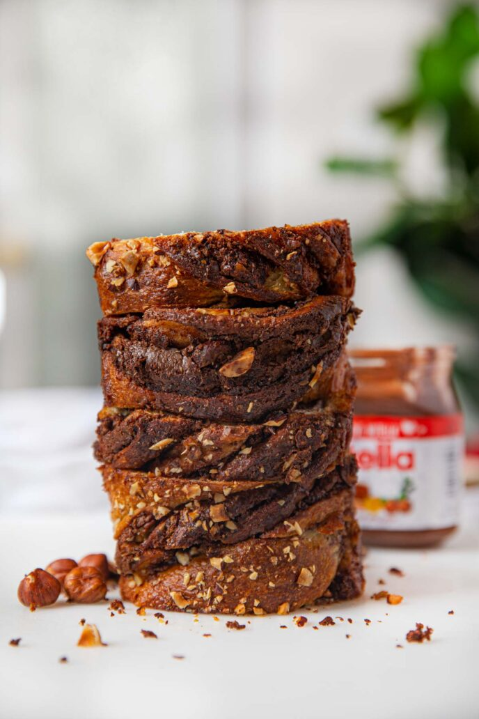 Stack of Nutella Bread Slices