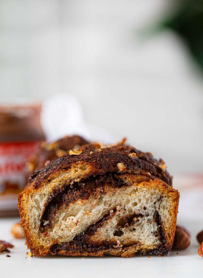 Swirl Nutella Bread with Hazelnuts