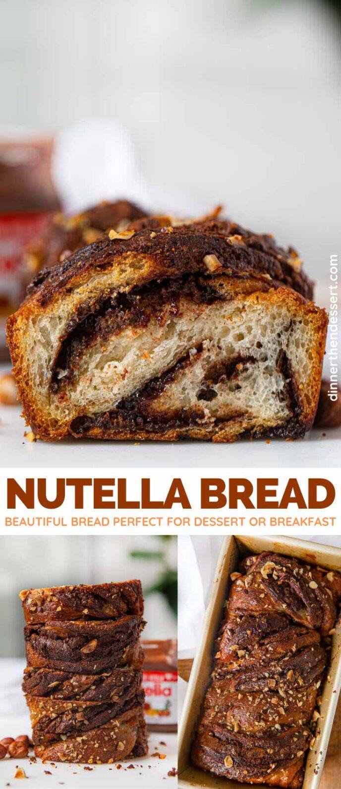 Homemade Nutella Bread collage