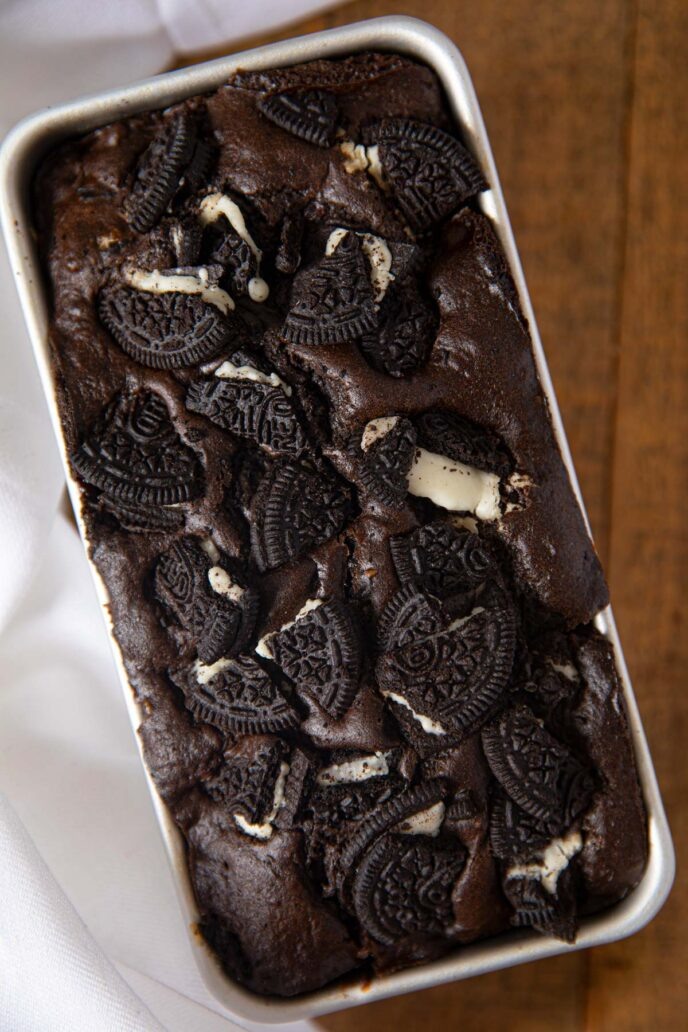 Oreo Chocolate Loaf Cake