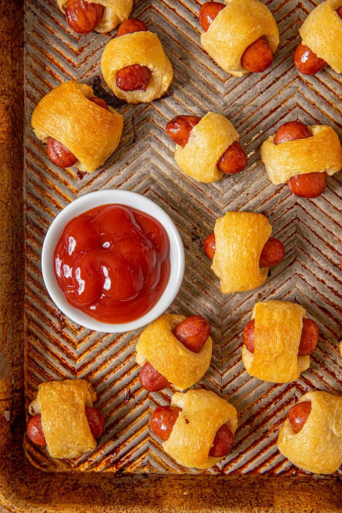 Tray full of Pigs in a blanket