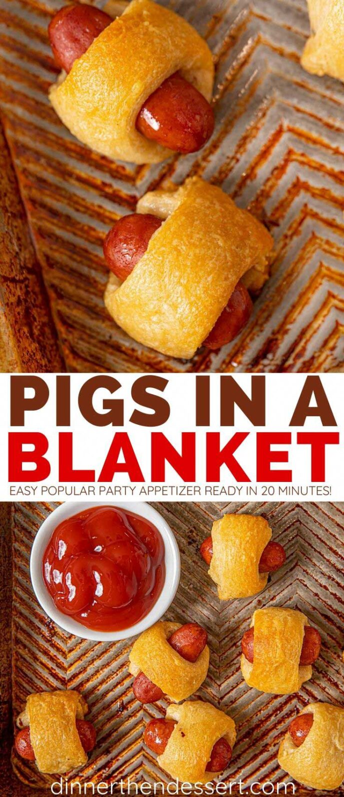 Collage Images of Pigs in a Blanket