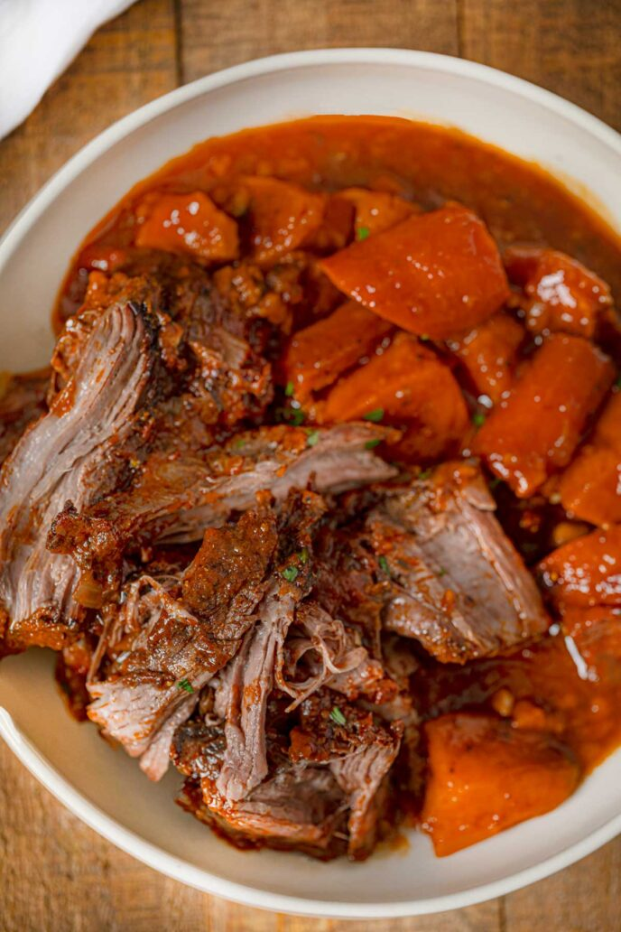 Slow Cooker Caribbean Beef Chuck Roast with Root Vegetables