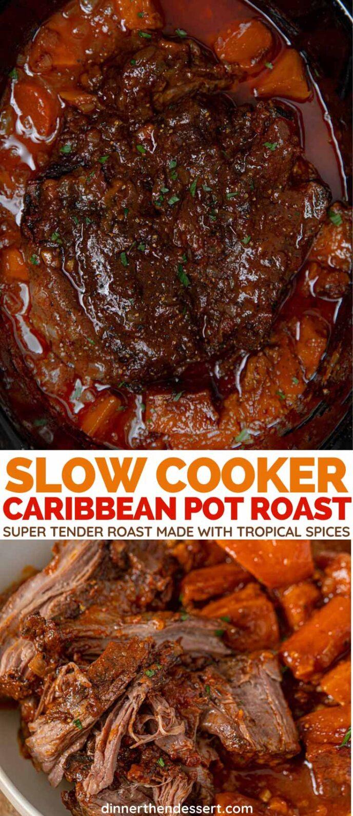Crock Pot Caribbean Pot Roast collage