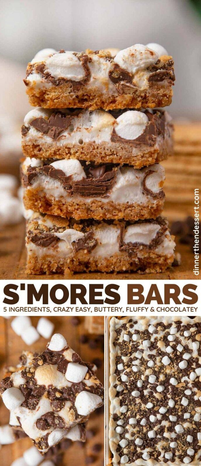 Collage of Smores Bars photos