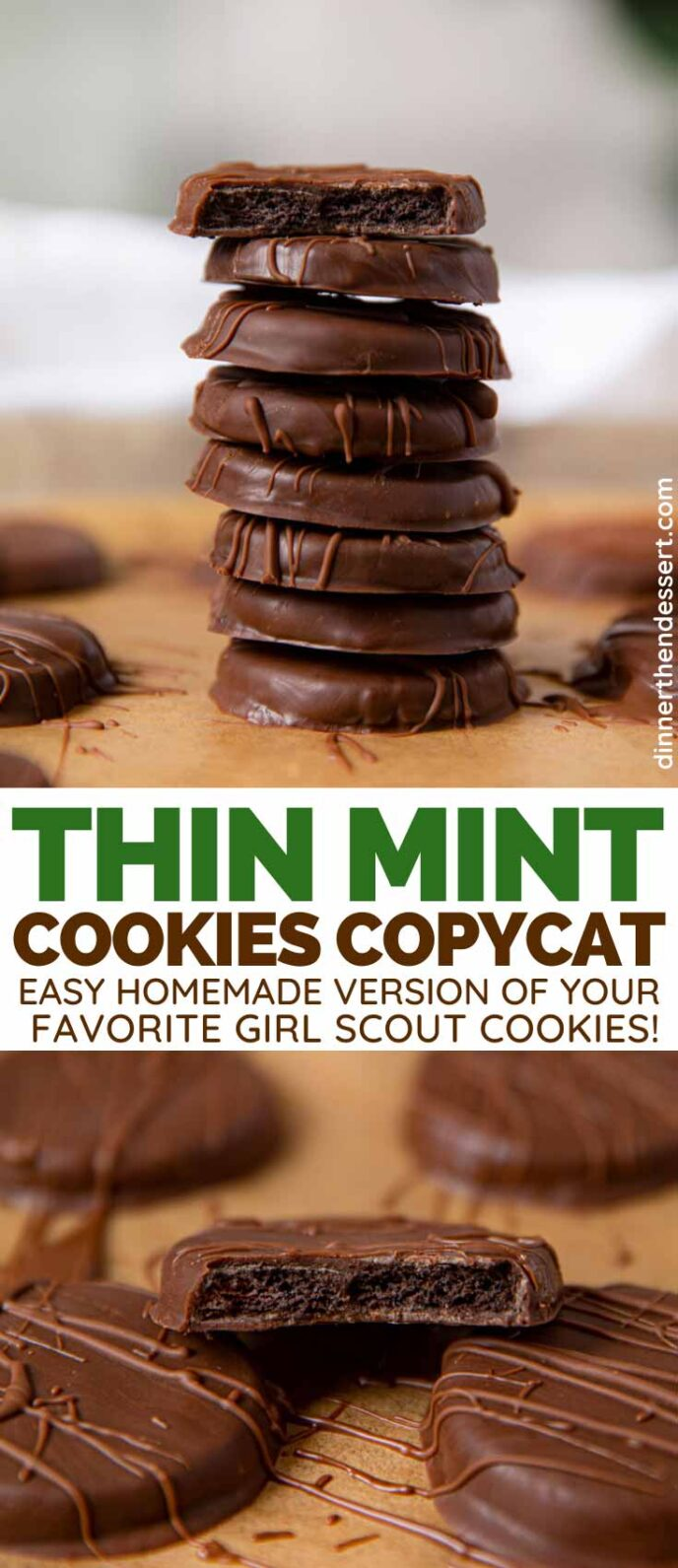 Thin Mint Cookies collage
