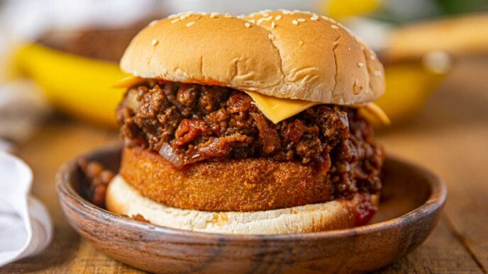Western Bacon Cheeseburger Sloppy Joes