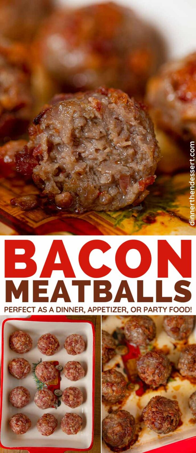 Bacon Meatballs collage