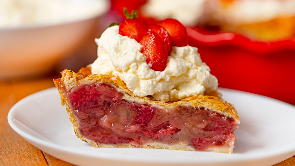 Baked Strawberry Pie Recipe Dinner Then Dessert