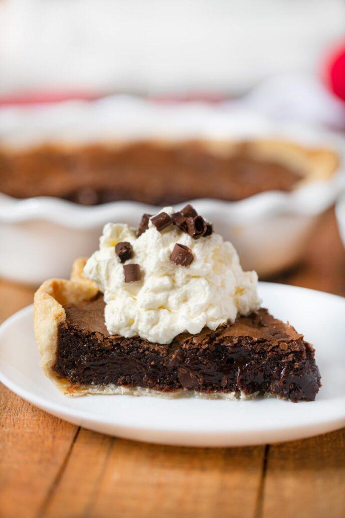 Slice of Brownie Pie